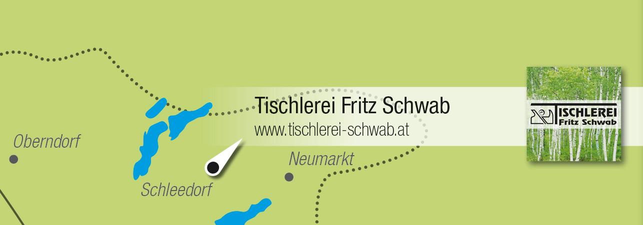Kartenausschnitt Tischlerei Fritz Schwab
