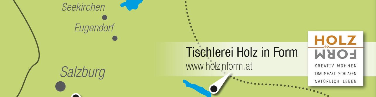 Kartenausschnitt Tischlerei Holz in Form